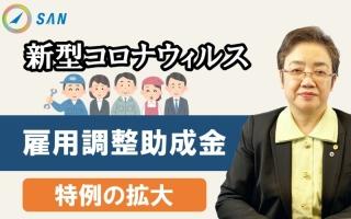 雇用調整助成金<特例措置の拡大>~新型コロナウィルス対応策_特定社会保険労務士 髙野洋子